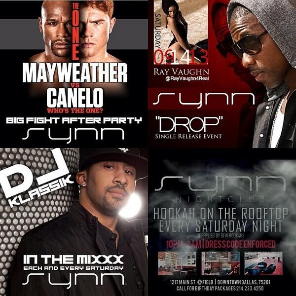TONIGHT | Mayweather/Canelo Fight Afterparty | @RayVaughn4real #DROP Single Release | @the_djklassik | @PartyChaser http://t.co/FfY4V8jprz