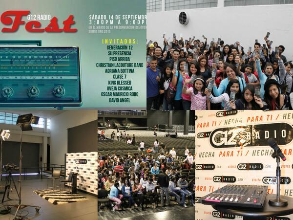 Todo esta listo, el #G12RadioFest los espera #CorreLaVoz Hoy Dios hará proezas, y tu serás testigo. http://t.co/bz8MVuQWrr