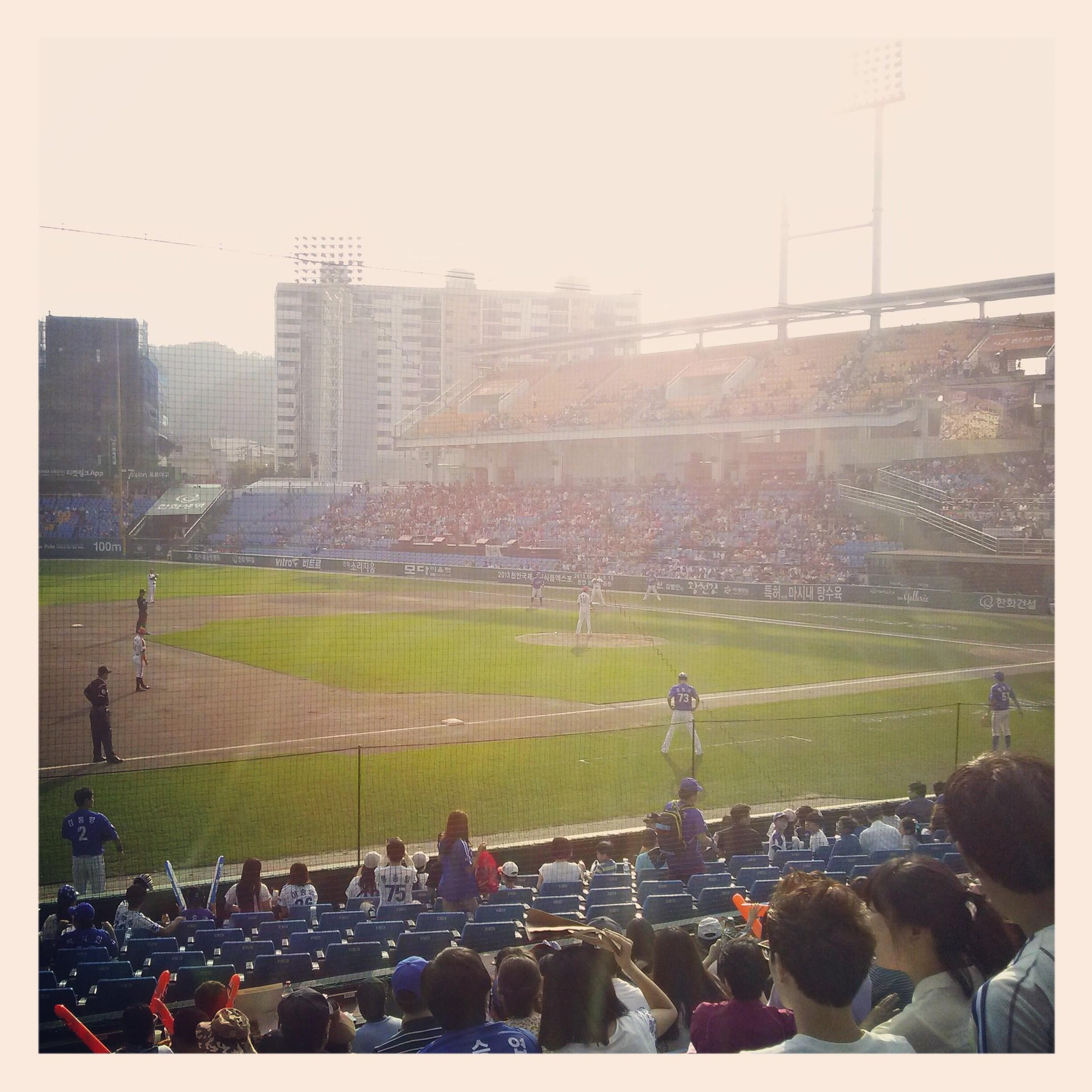 Taking in some Korean baseball. Hanwha Eagles vs Samsung Lions. http://t.co/pkebFRQFF6