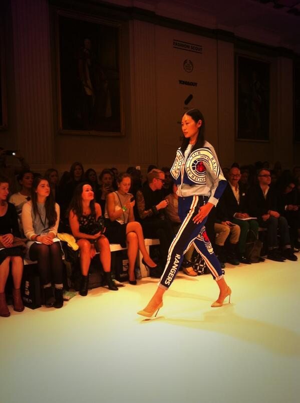 BUMphxUIAAApVmI A Ukrainian designer showcased a Rangers female football outfit at London Fashion Week [Pictures]