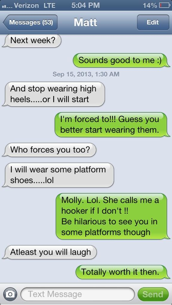 A wonderful daily text, some guys can't handle tall girls. http://t.co/vfgL78Fdme