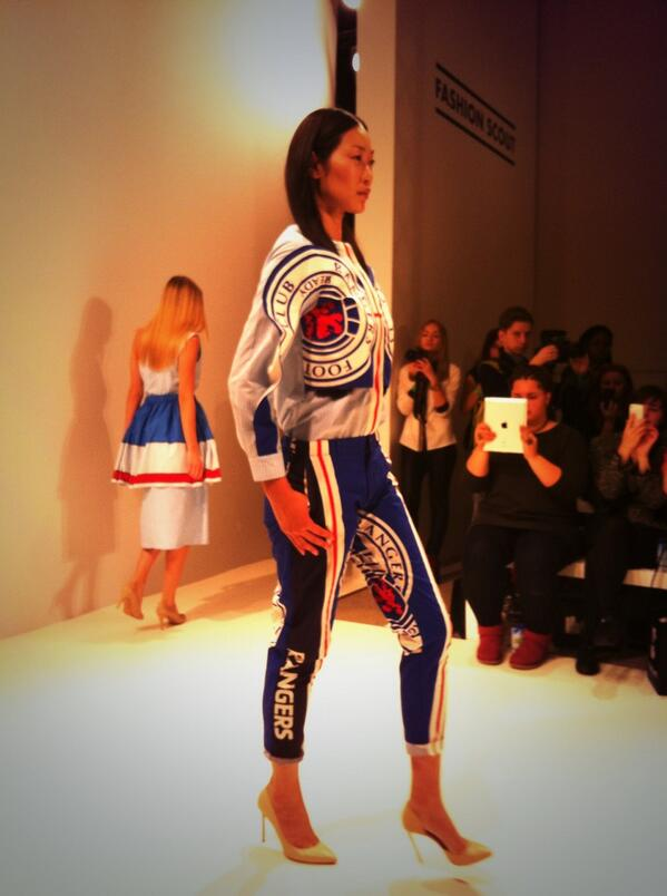 BUOrjWRIIAASBGX A Ukrainian designer showcased a Rangers female football outfit at London Fashion Week [Pictures]