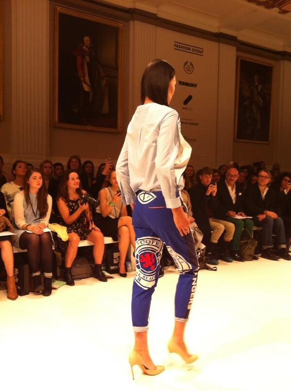 BUOvEpQIMAAWJOV A Ukrainian designer showcased a Rangers female football outfit at London Fashion Week [Pictures]