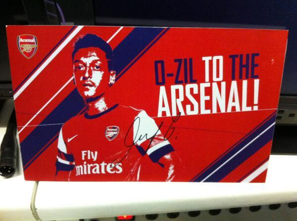 Tune in to the #ClockEnd from 7pm to be in with a chance of winning this signed 'O-zil to the Arsenal' card! http://t.co/S08wBbHYXO