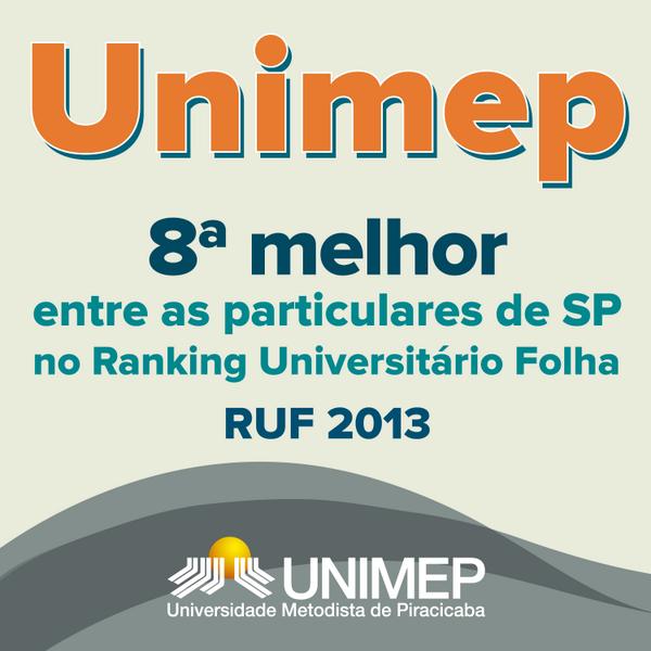 Unimep é a 8ª melhor dentre as particulares de SP no RUF http://t.co/DMKeVyU6UY #unimep http://t.co/Whb13WFu1y