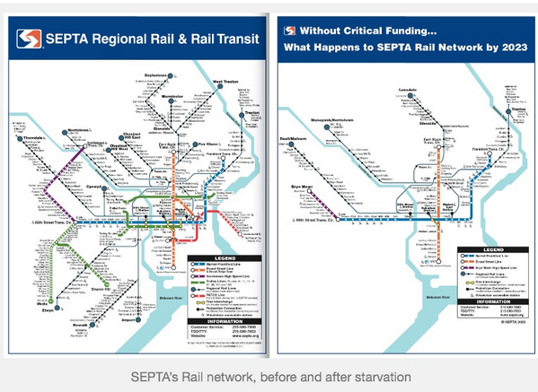 """Before & After is crazy. MT @apocalypsepony: The SEPTA """"doomsday"""" budget isn't a scare tactic. http://t.co/9cfrmwKqjq http://t.co/482O6jEAT5"""