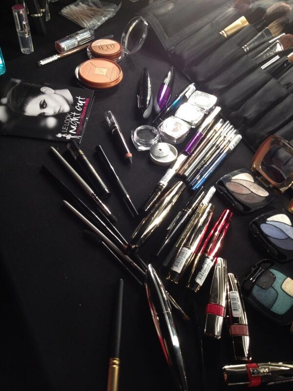 The make-up for the @lorealparis Night Out beauty look #VFNO #beauty  http://t.co/WpKMGDu9Q8