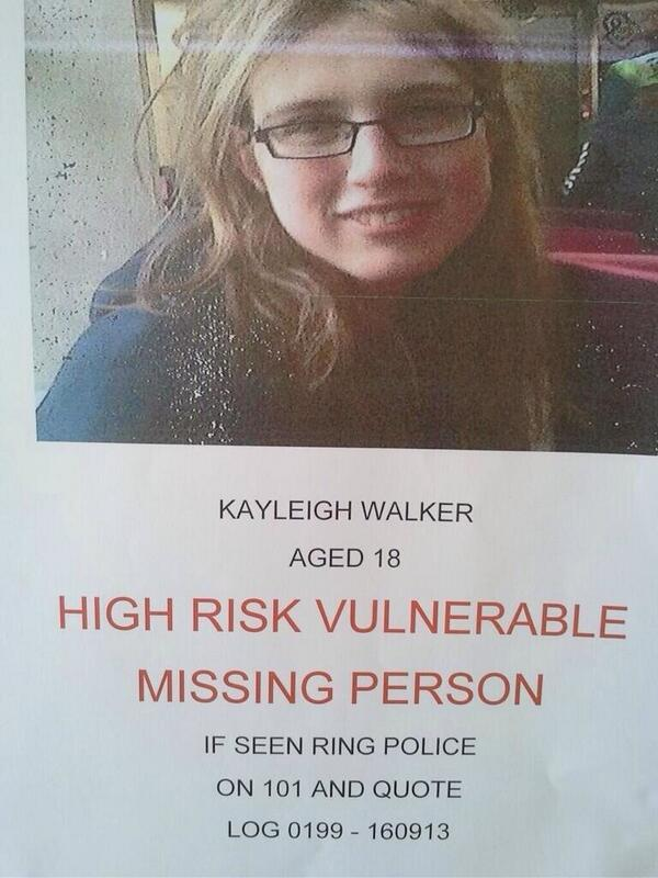 Cineworld BOLTON (@CineworldBolton): Hi all, this girl has been missing since Sunday. From Ramsbottom, last seen in Bolton. Please take a look and RT. http://t.co/tCNFMPCvzb
