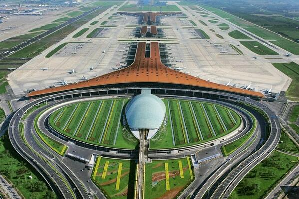 China just opened the World's Largest Airport Terminal in Beijing. Check this out: http://t.co/udCDHs3VFZ