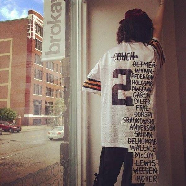 Life could be worse, unless of course you spent $ on Browns season tickets this year. #Quarterback #TrentRichardson http://t.co/NG2a1cN2TW