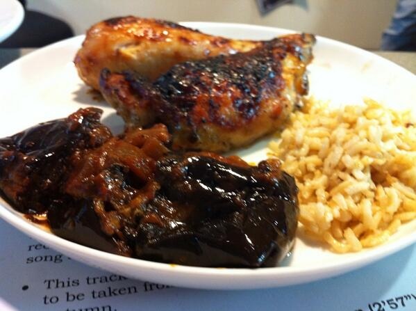 Lavender chicken with stuff http://t.co/07wStk8zwv