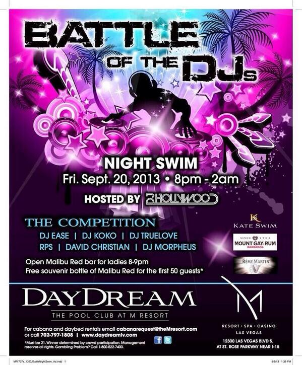 Join me tomorrow night for the @DayDreamPool #DJBattle at 8p hosted by @ImDJHollywood & @BeatClan #LasVegas http://t.co/DNG4GtsDdu