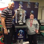 """@charityspoon: Huge thank you to @gareththomas14 for helping launch our @RLWC2013.Highlight of my century!!http://t.co/2oGu0m7ZPx"""