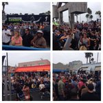 RT @ketch: Good turnout at Muscle Beach for @Schwarzenegger  @muscle_fitness @MusclepharmPres http://t.co/1NZSng4mhB