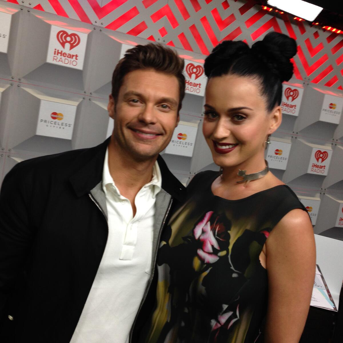 RT @RyanSeacrest: And that's a wrap on #iHeartRadio night 1! See you tomorrow? After party in @KatyPerry's room (byob) http://t.co/ttohm5PkVb