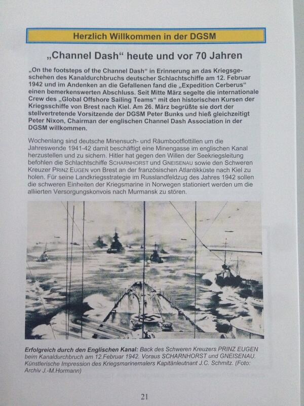 """Media Relations: DGSM Magazine """"Der Signalgast"""" reports about the """"Channel Dash"""" - 2of4 http://t.co/tOd4lE57lM"""