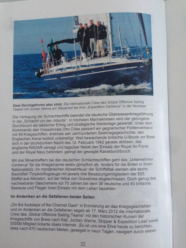 """Media Relations: DGSM Magazine """"Der Signalgast"""" reports about the """"Channel Dash"""" - 3of4 http://t.co/YJSAzNHB9N"""