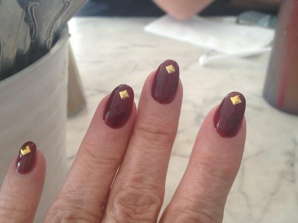 I love these...well, I will when the flippin polish comes off the cuticle....Hollywood problems http://t.co/r7UwrYewtA