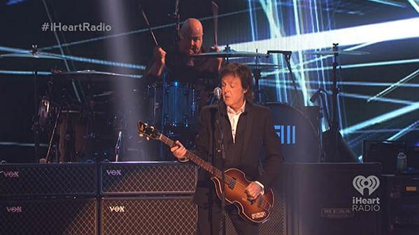 .@PaulMcCartney just performed his newest song live on the #iHeartRadio Music Festival stage called #SaveUs http://t.co/Ou48FFlOIc