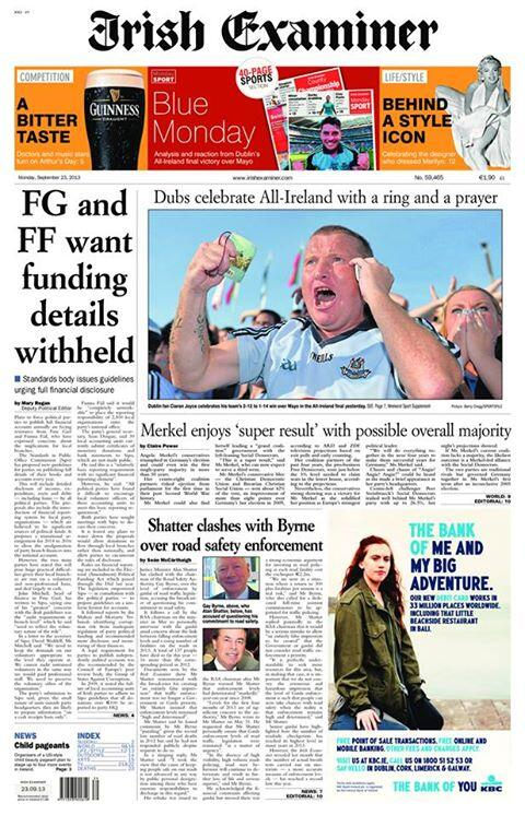 RT @irishexaminer: Tomorrow's Irish Examiner front page (KOB) http://t.co/65kcCObPPT