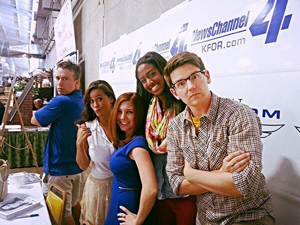 Ashley Kringen (@Ashleykringen): How fun:) News crew at the @okstatefair @BreeNews4 @paigehillK4  @reedtimmerTVN http://t.co/LWiyRJcgaV