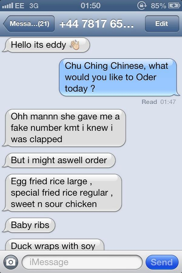 """@CrudmodeNaz: ""@Kekee_Lemma: LOOOOOOOOL he thought I gave him a fake number http://t.co/mXGU2a4do6"" loooool"""