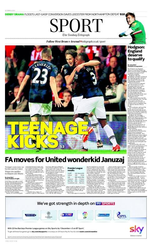 BV1131SCYAAGLIY Roy Hodgson confirms England are interested in Manchester United weekend hero Adnan Januzaj