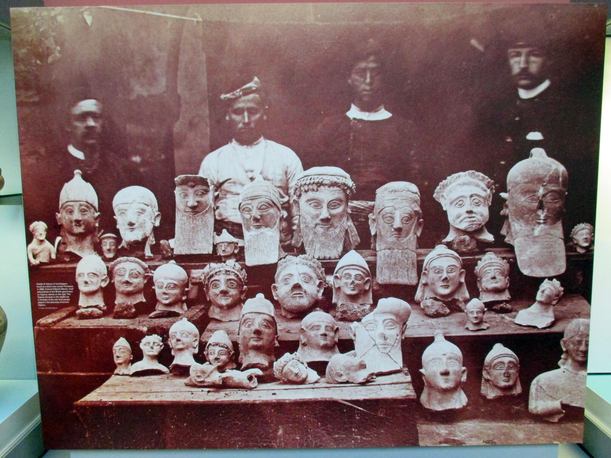 RT @OptimoPrincipi: Busts of worshippers found at shrine of Tamassos, Cyprus by Col. Falkland Warren&his assistants. #cyprus #archaeology http://t.co/nJPTXP3SQ9