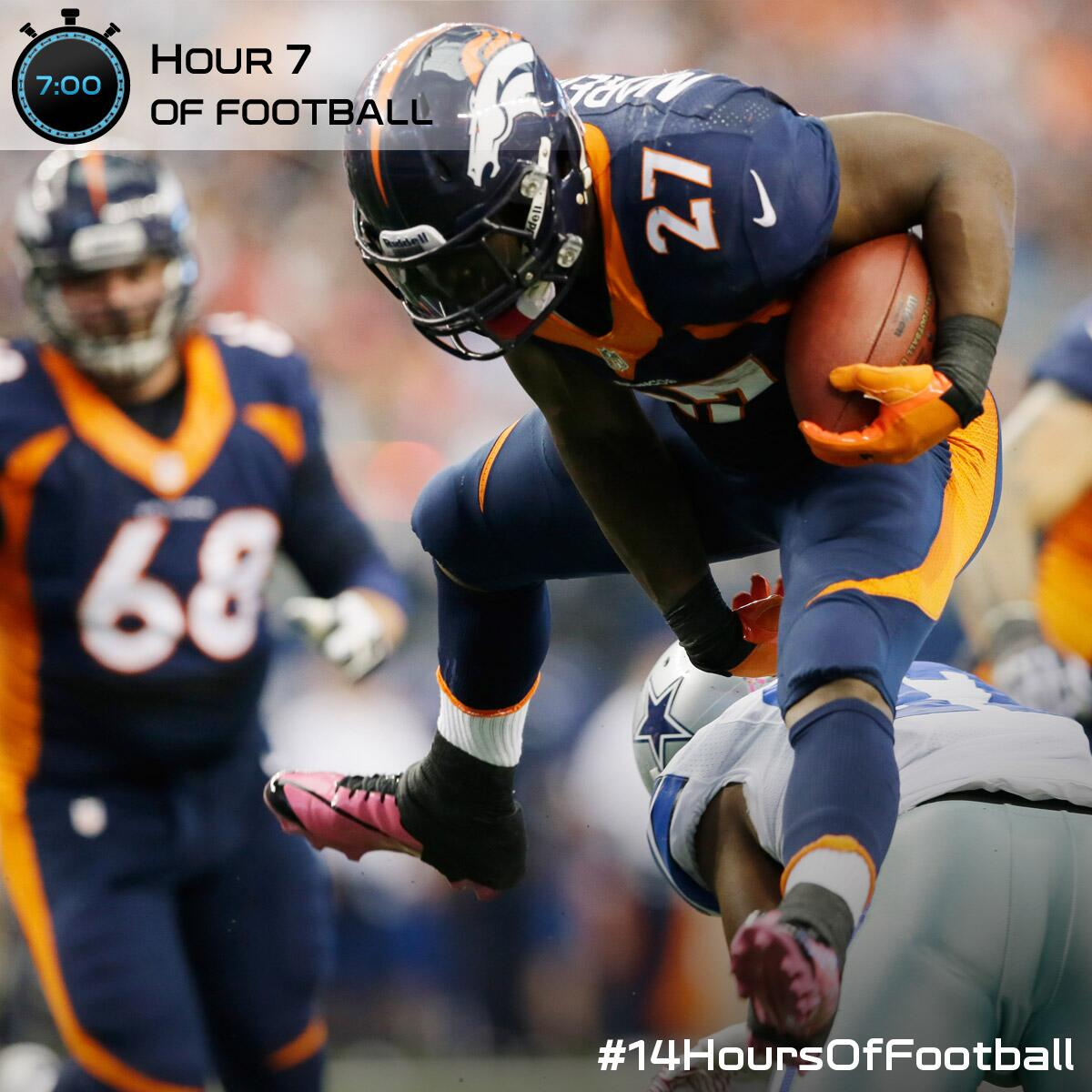 Tie game.   You probably shouldn't change the channel. #DENvsDAL #14HoursOfFootball http://t.co/Ypcke1Vrnu