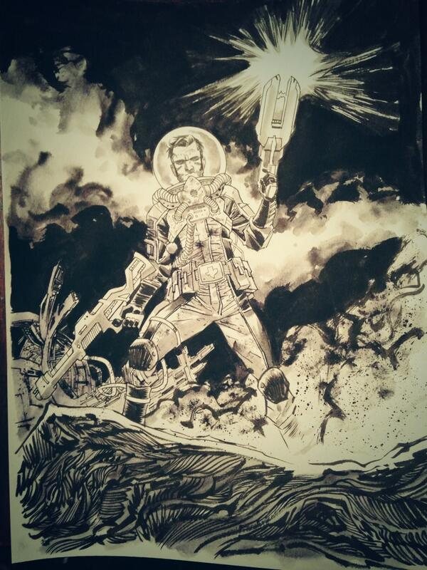 This is THE BEST. RT @declanshalvey #NYCC Commission of @Remender's FEAR AGENT for @slicedfriedgold http://t.co/UIRAwnNE1n