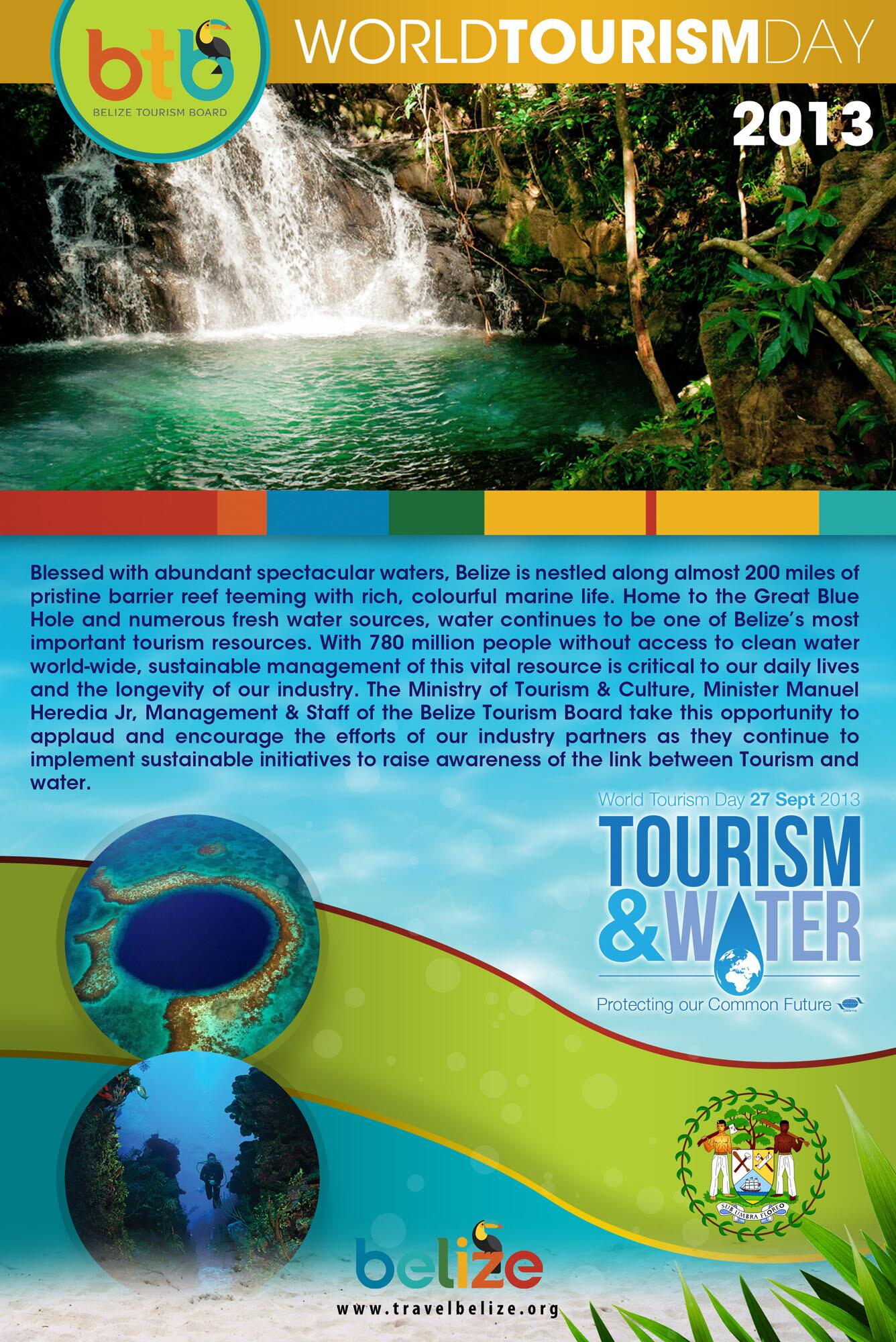 #WorldTourismDay2013 #Tourism&Water...help us protect our common future! http://t.co/8EiCdroi2y