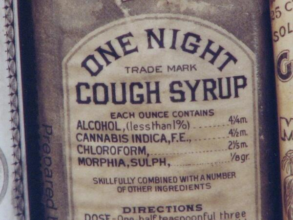 RT @HistoryInPics: One Night Cough Syrup' with some remarkable ingredients, manufactured in Baltimore, 1888 http://t.co/PskmQwAvHH