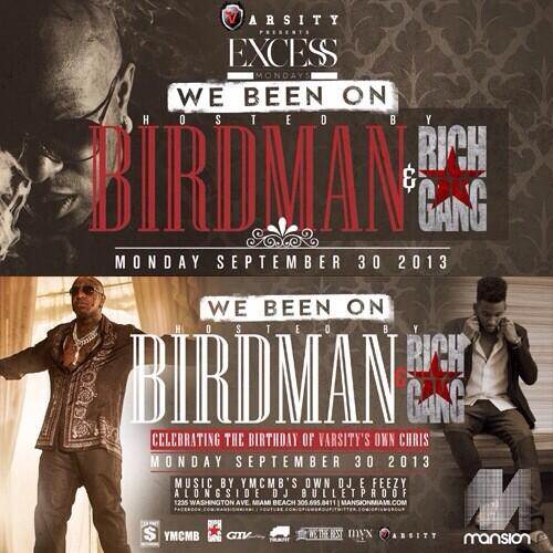 MONDAY @ MANSION   @BIRDMAN5STAR + #YMCMB + RichGang Host #ExcessMondays   B Day for @VarsityLG's @PRinceHasSpoken  http://t.co/sXdi5dBn1i