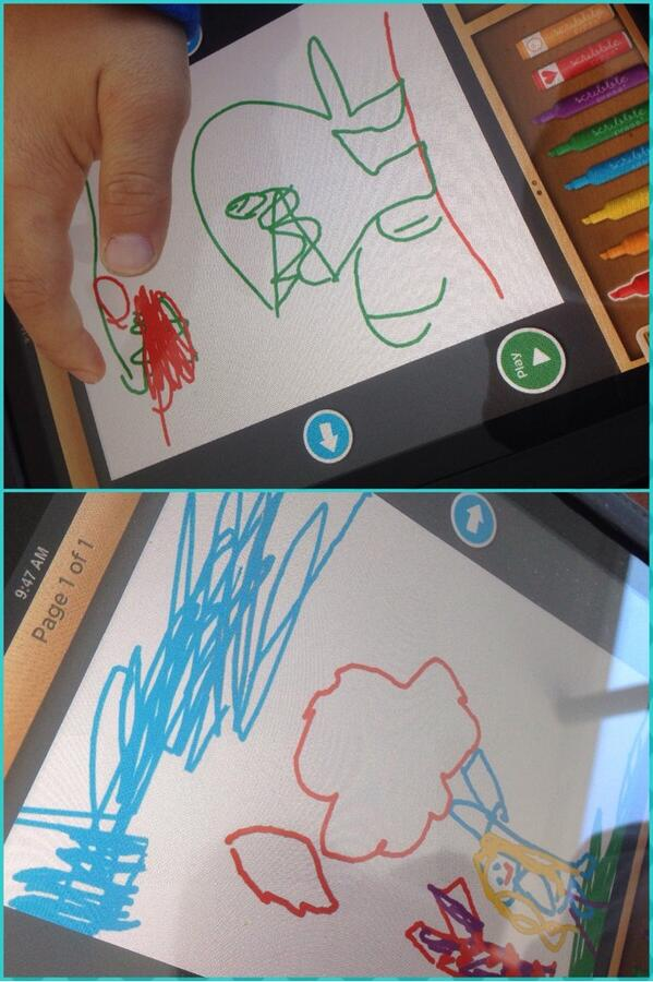 Kinders storytelling with ScribblePress Tell my story - very cool. #ipadchat #BarronPark #PAUSD #edchat #kinderchat http://t.co/BGpWErgGT0
