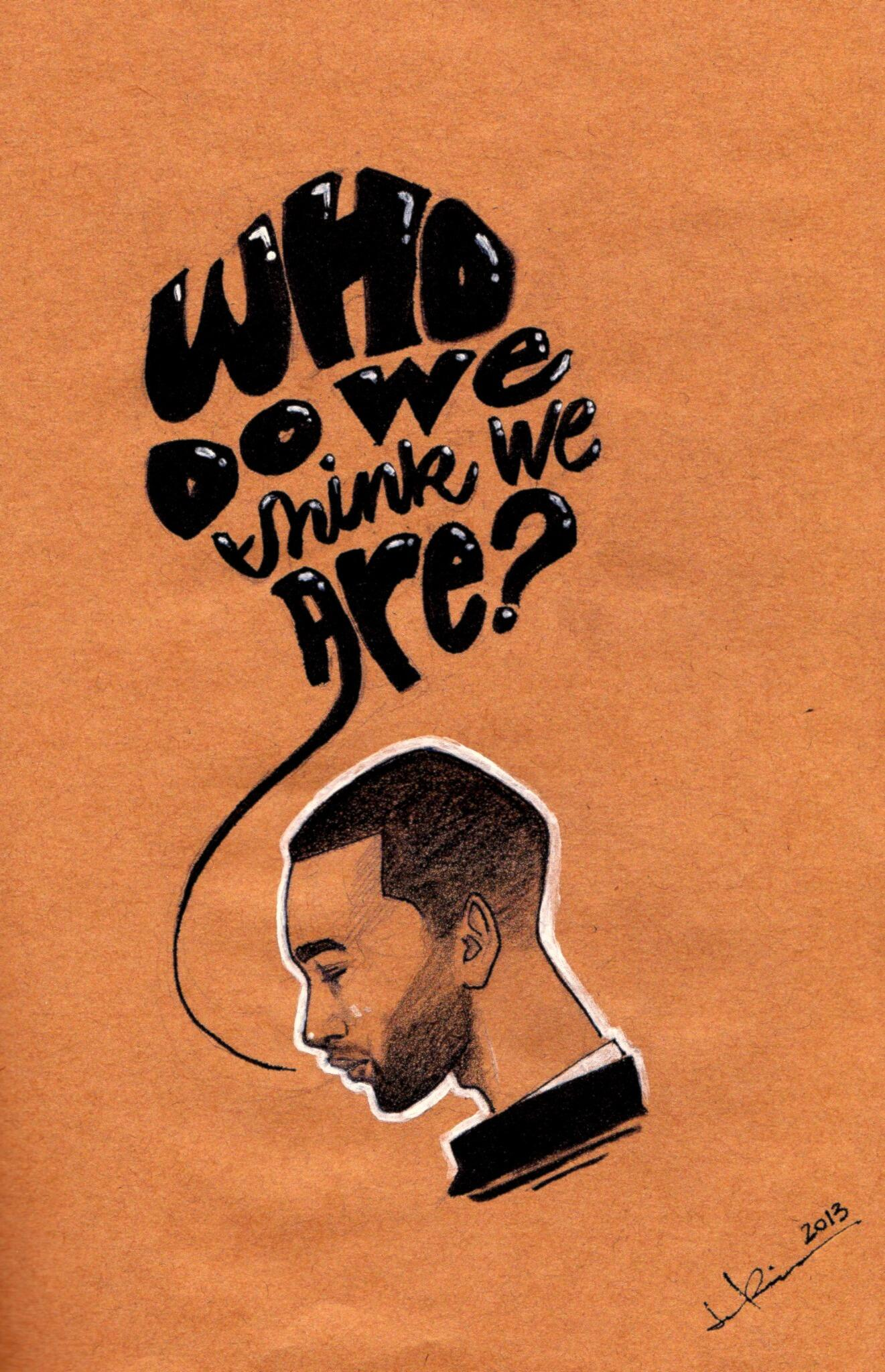 Made an illustration of @johnlegend #whodowethinkweare #loveinthefuture http://t.co/R3XryoACot