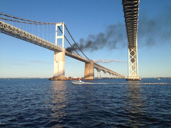 Lauryn Ricketts (@laurynricketts): Car fire on #baybridge in Maryland @ABC7News @WTOP http://t.co/Jogicd2D2Y