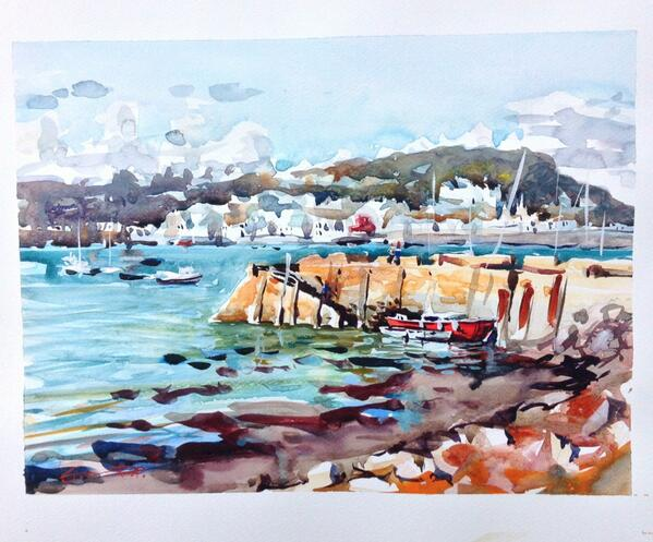 Do you know where this is? #watercolour #stevepp #art #boats #sailing http://t.co/l55XjqsAHT
