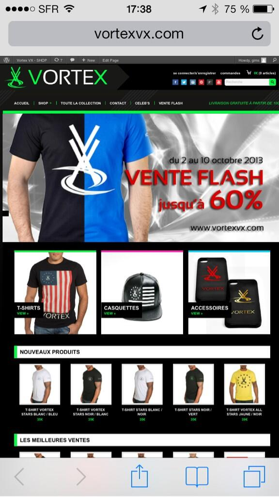 Vortex Officiel (@VortexOfficiel): VENTE FLASH VORTEX jusqu'au 10 octobre sur http://t.co/iaD7H1eIeQ #vortex http://t.co/mM3qrNnVhF