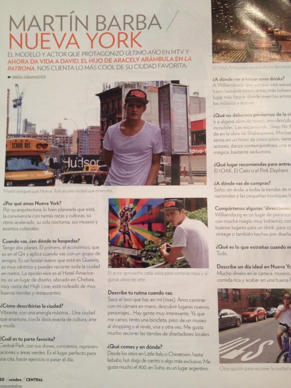 Vivian Silberstein (@vsilberstein): Qué bonita sorpresa viene éste mes en la revista @central_mx @martingbarba besos !!!! http://t.co/frBLgZKf8s
