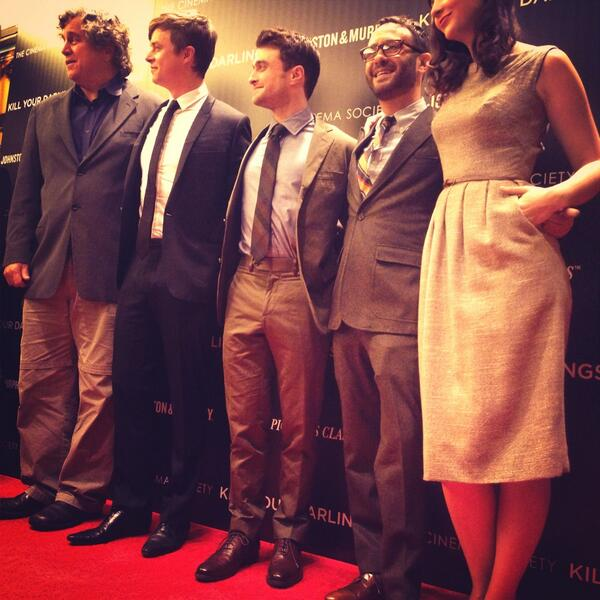On the #JMdarlings red carpet w/ @danedehaan, Daniel Radcliffe in Tyndall Wingtips & director @krokasaurusrex http://t.co/ACpMy113Ij