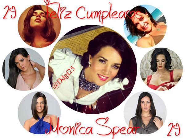 "RT @MonicaSpear: ""@ddgf25: @MonicaSpear Feliz Cumpleaños mi Maracucha Bella Dtb .! TQM Saludos desde Mcbo:* ♥ http://t.co/LzRJGVAyZJ"" Graci…"