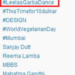 RT @DeepikaHolics: No.1 TREND IN INDIA #LeelasGarbaDance @deepikapadukone this is 4u. @DeepikaPFC Cheers! :) http://t.co/jiDXIBTdyU