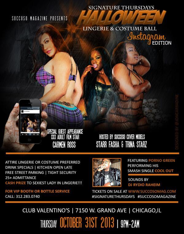 Ms. Starz (@TrinaStarzX): 10.31.13 #HALLOWEEN Lingerie Party w @CarmenRossBaby @TrinaStarzX @starr_fasha @PORNOGREEN @Fredom07 #CHICAGO http://t.co/hLT1fZ6HXI