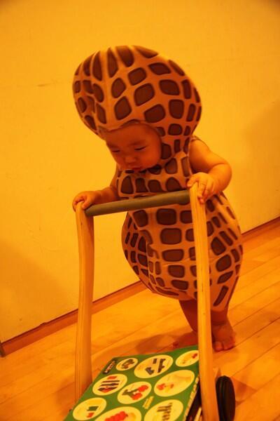 子供のハロウィンの衣装も考えなけきゃ。去年の次男のピーナッツ超えができそうにない。 http://t.co/t4w1YXjGqk