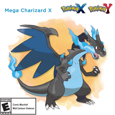 RT if you're excited about Mega Charizard X! #PokemonXY http://t.co/M6ajK3cQaW