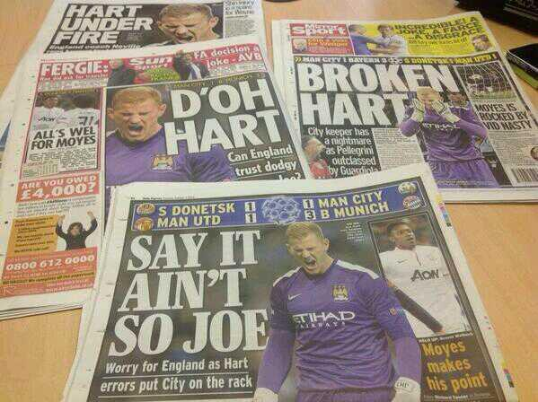 BVozC7cIEAEjtjF Joe Hart puns & jokes abound after two mistakes in Man Citys 3 1 defeat to Bayern Munich