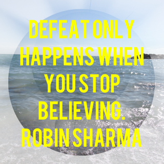 Defeat only happens when you stop believing. http://t.co/mwKpw7fjGN