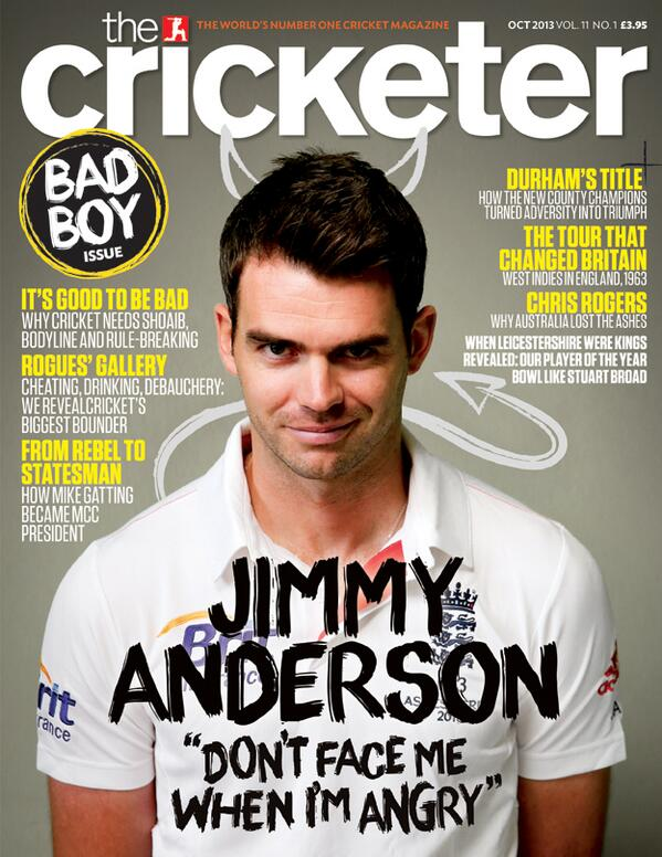RT @TheCricketerMag: We've only gone and put another NEW ISSUE out today! Take a look at our cover, featuring @JimmyAnderson9 http://t.co/Zo3HtK41ny