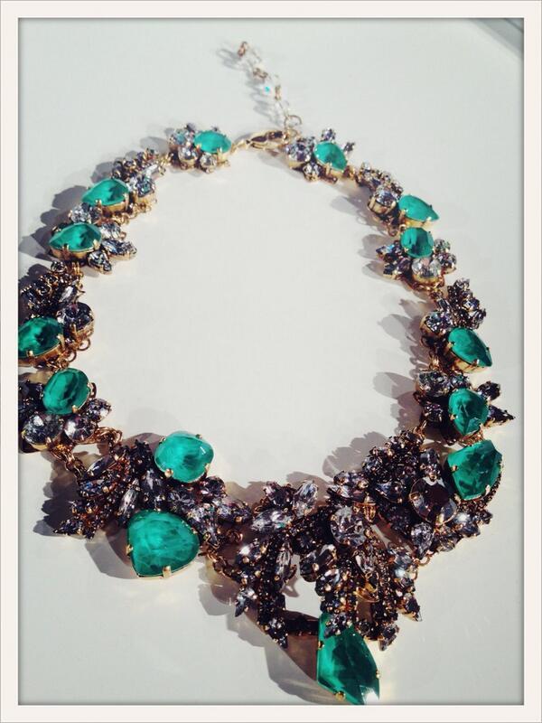 A necklace by @EricksonBeamon using #SwarovskiElements #WJF @Swarovski #PFW http://t.co/uNVI4jlKz8