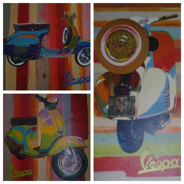Those are awesome! RT @snickerl: Found these great paintings in a hotel room in Normandy, France! #vespa @VespaUSA http://t.co/IGrnMBDh67